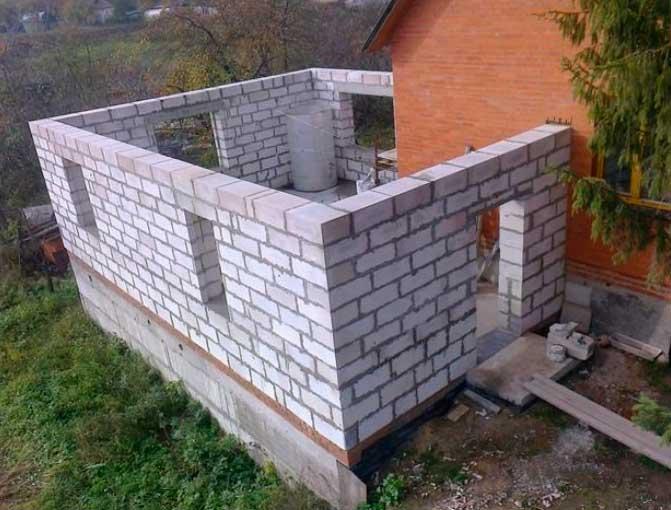 Строительство закрытой летней кухни