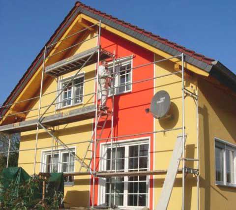 Декоративная штукатурка в оформлении фасада