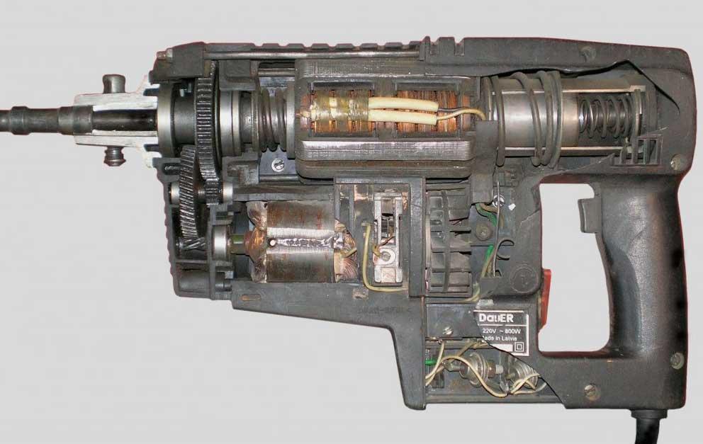 внутренее устройство перфоратора