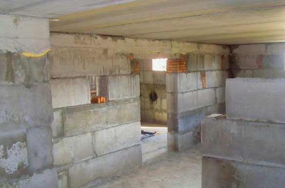 подвал в уже построенном доме