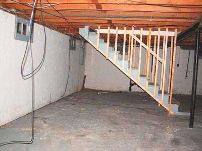 подвал в готовом доме