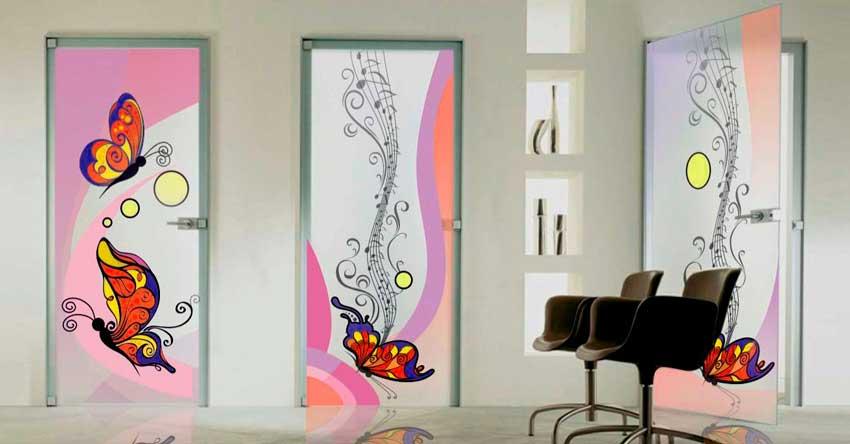 украшение дверей рисунками