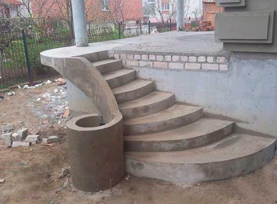 Виды крыльца из бетона