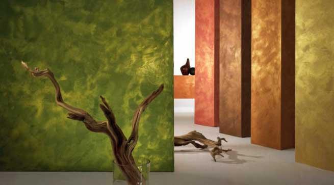 Отделка внутренних стен декоративной штукатуркой