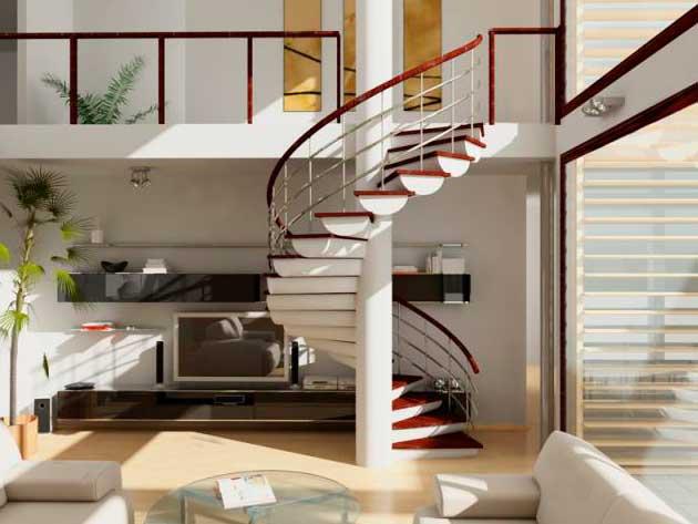 винтовая лестница в доме