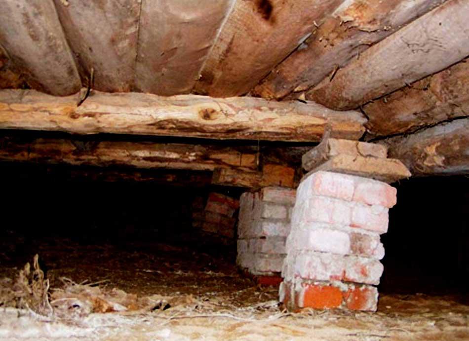 укрепление столбчатого фундамента деревянного дома своими руками