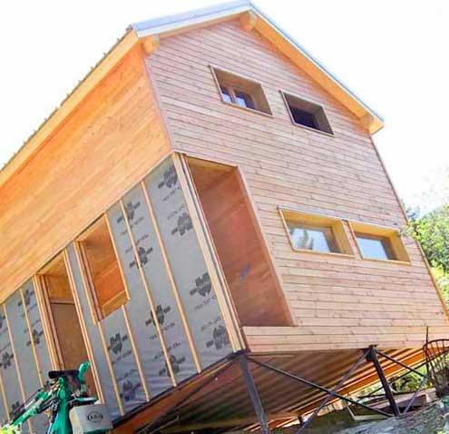 Свайный фундамент под каркасные или деревянные дома.