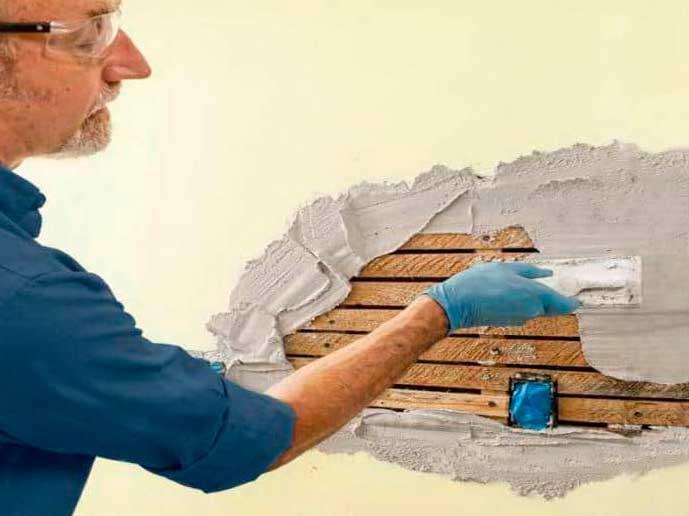 Технология ремонта штукатурки внутренних стен