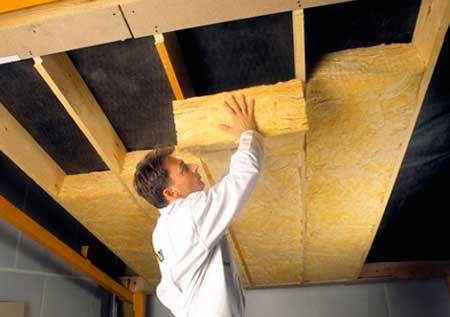 утепления потолка минеральной ватой изнутри