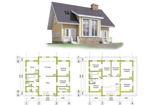 Каркасный дом своими руками: проекты и чертежи