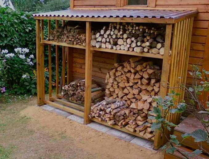 Строительство навеса из дерева