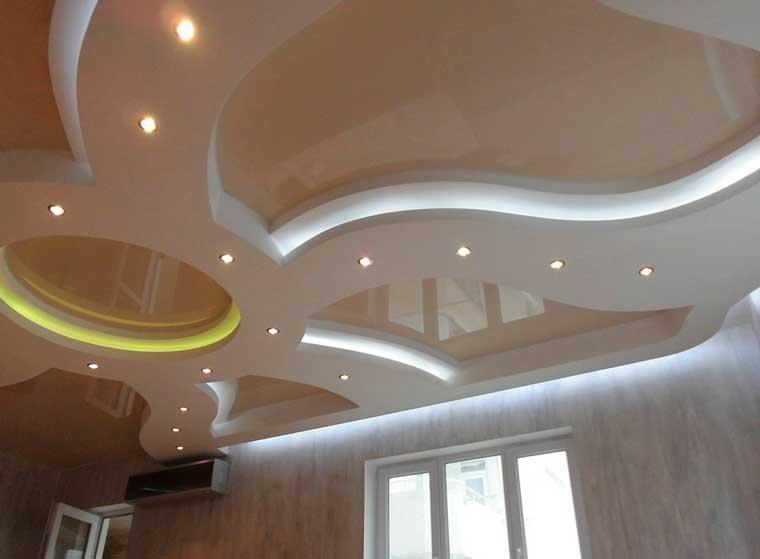 криволинейный подвесной потолок