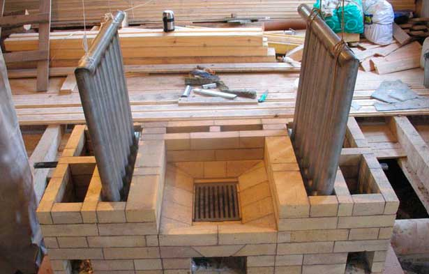 Отопительная печь с водяным контуром: принцип работы