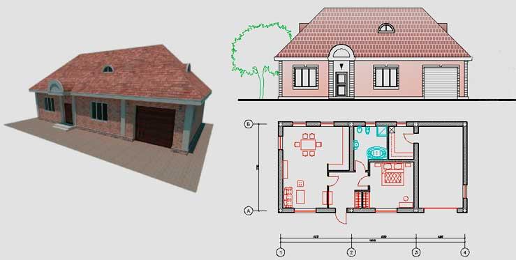 чертежи каркасного дачного дома