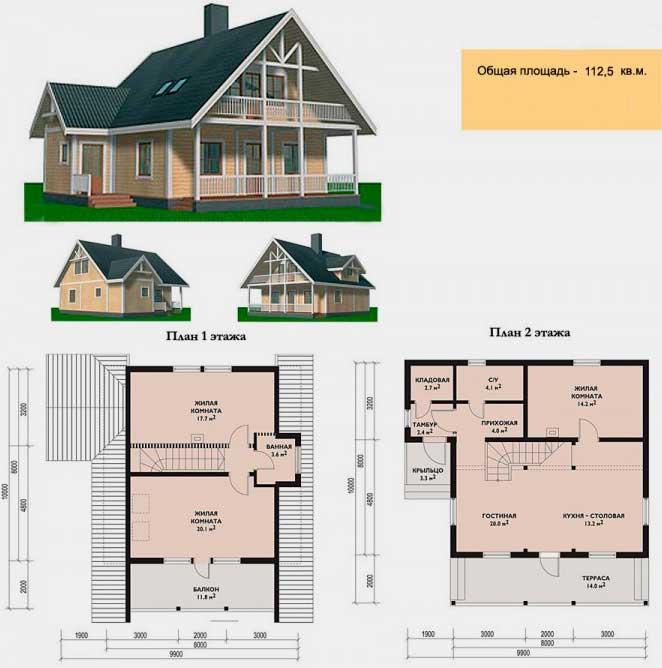 проекты домов с мансардой чертежи и фото время