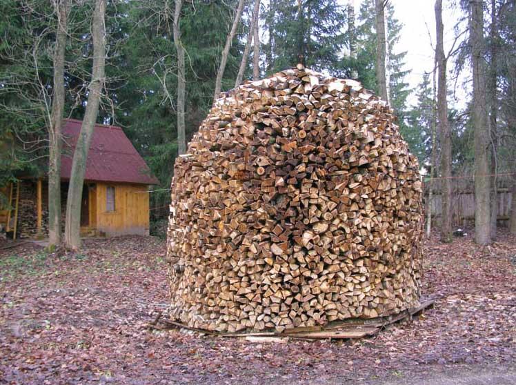 сооружения навеса для дров