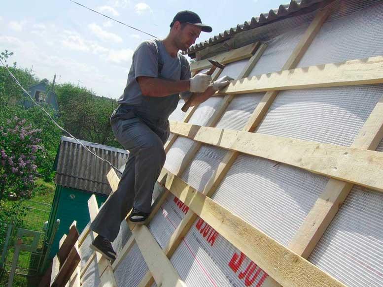 Обрешетка крыши: устройство гидробарьера