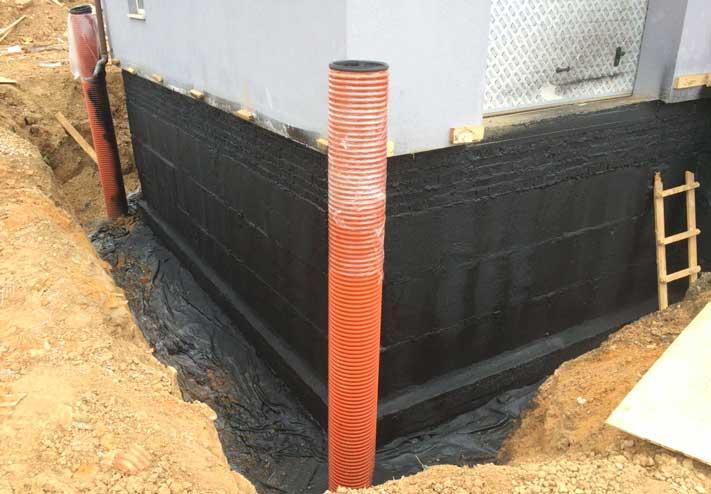 напыляемая гидроизоляция фундамента