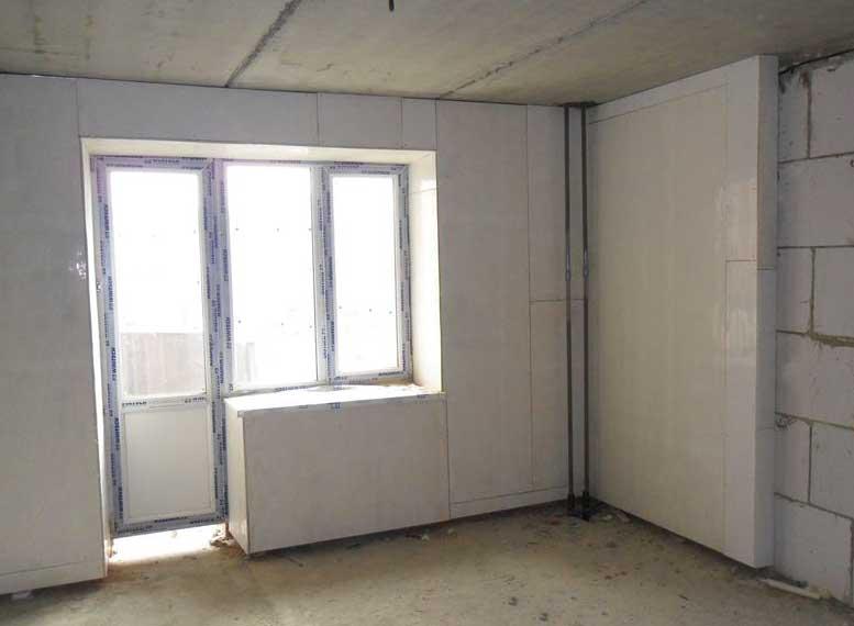 отделка балкона стекломагниевой плитой