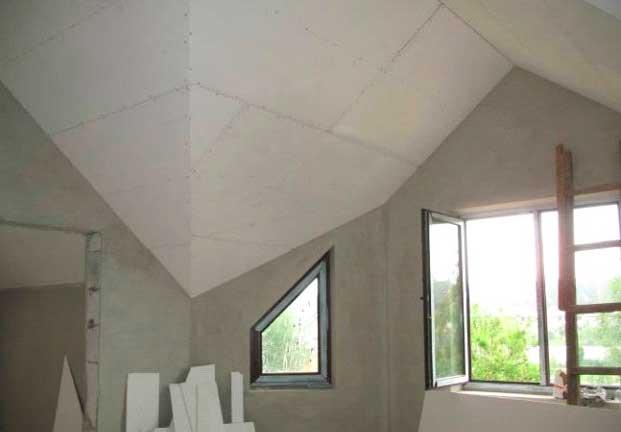 отделка потолка стекломагниевой плитой