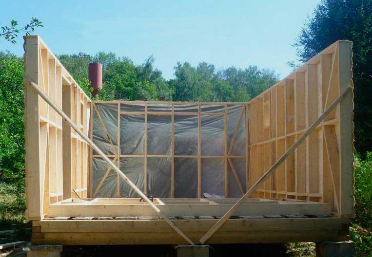 гидроизоляция стен каркасной бани