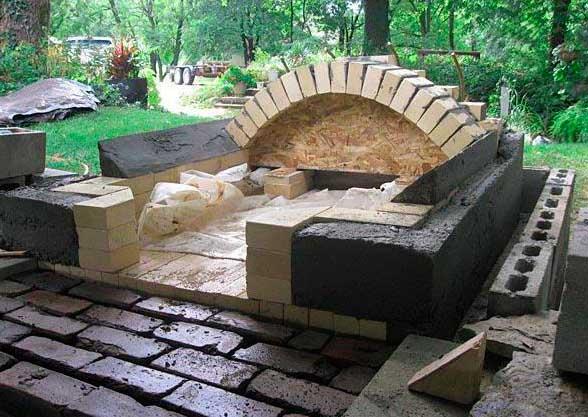как сделать камин из жаропрочного бетона