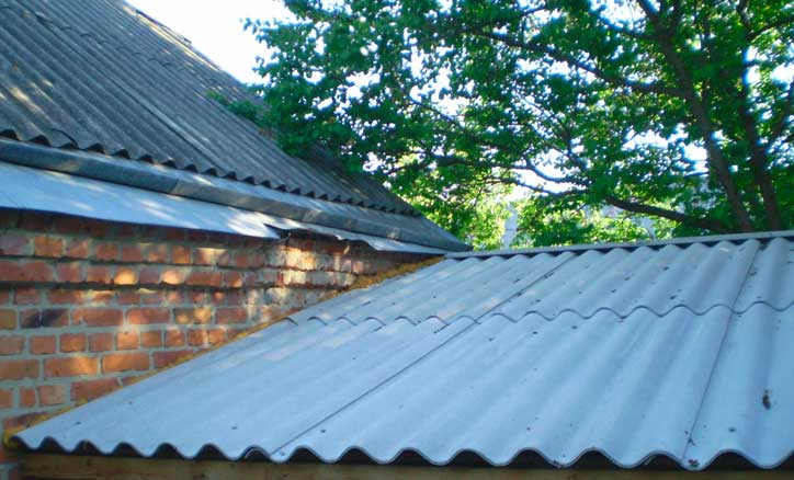 шифер для постройки крыши дачи или небольших домов