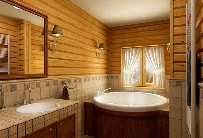 Керамическая плитка для ванной: использование на деревянной поверхности