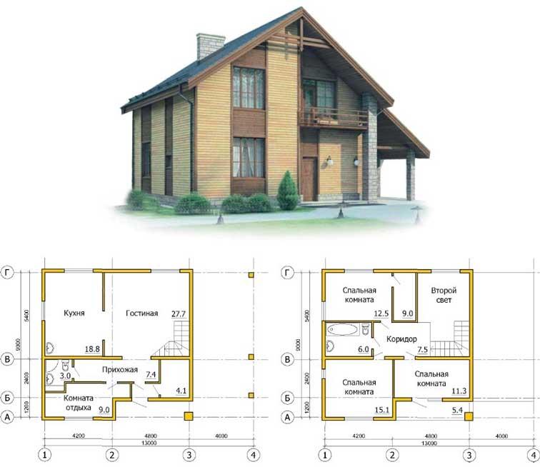 каркасный дом: бесплатные проекты и чертежи