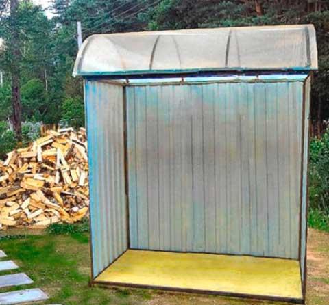 Навес для дров из поликарбоната
