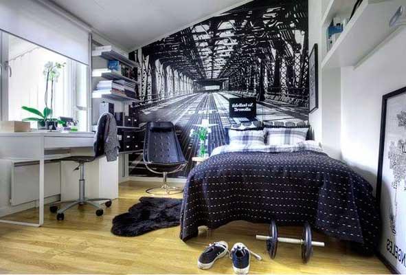 фотообои в спальне подростка