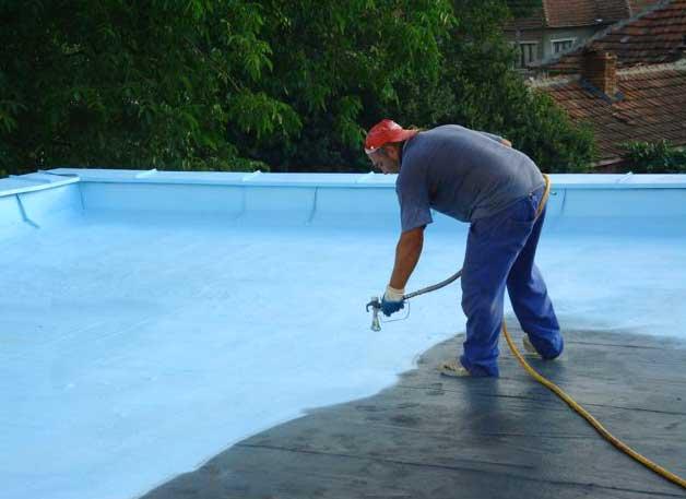 напыляемых гидроизоляционные работы для крыши