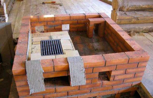 Кирпичные печи с водяным отоплением: конструкция