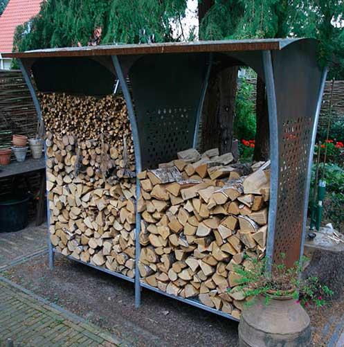 Навес для дров из металла