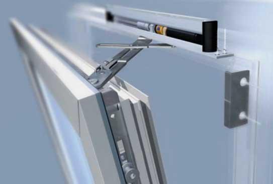 Поворотная оконная фурнитура с вертикальным подвесом