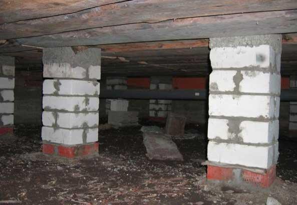 Виды подпольных помещений