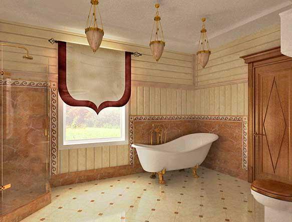 Стены в ванной: отделка