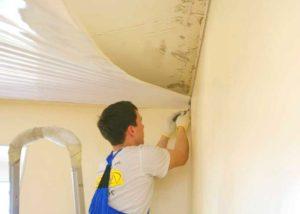 Монтаж натяжного потолка в частном доме