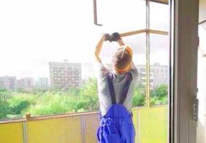 Замер и осмотр места под балконную раму