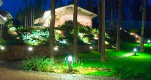 Загородный дом: уличное освещение