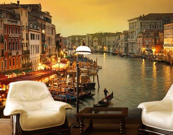 Венеция на 3d обоях