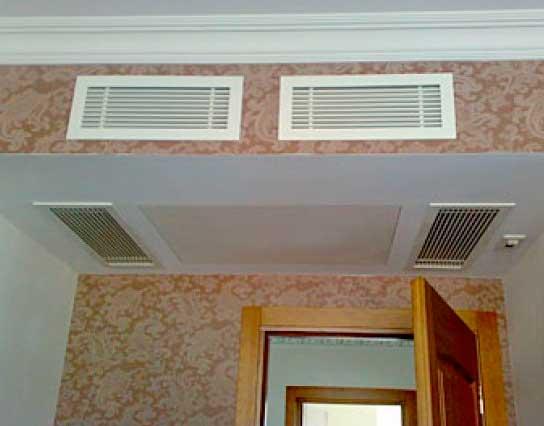 Кассетный кондиционер, вмонтованый в потолок