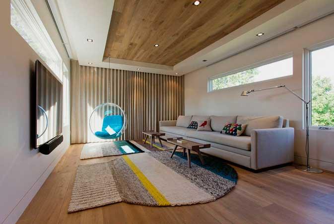 Ламинат в дизайне потолка