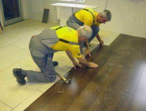 Монтаж ламината на деревянное основание