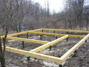 Как сделать фундамент каркасного дома