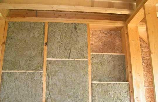 Теплоизоляция каркасной стены минватой
