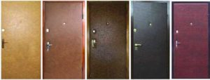 Дверь оббитая кожей