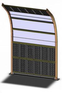 модель акустического экрана одна секция