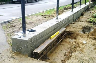 Столбы в бетоне для ворот