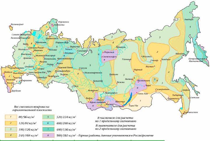 Карта России по климатзонам